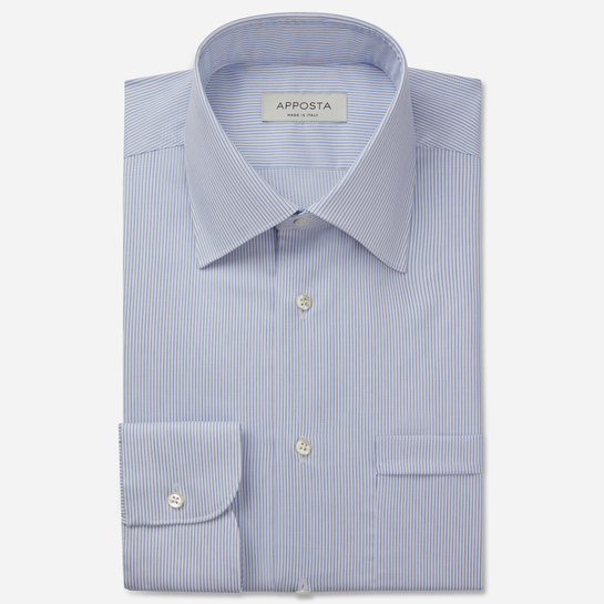 shirt 100% non-iron cotton dobby double twisted  stripes  light blue, collar style  regular straight point collar, cuff  round