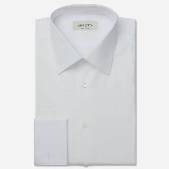 shirt 100% pure cotton  solid  white, collar style  low straight point collar