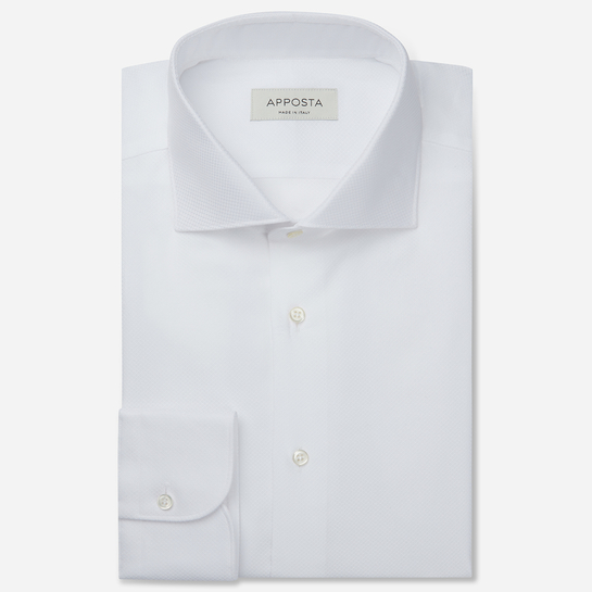 shirt 100% pure cotton textured double twisted  designs  white, collar style  lower spread collar