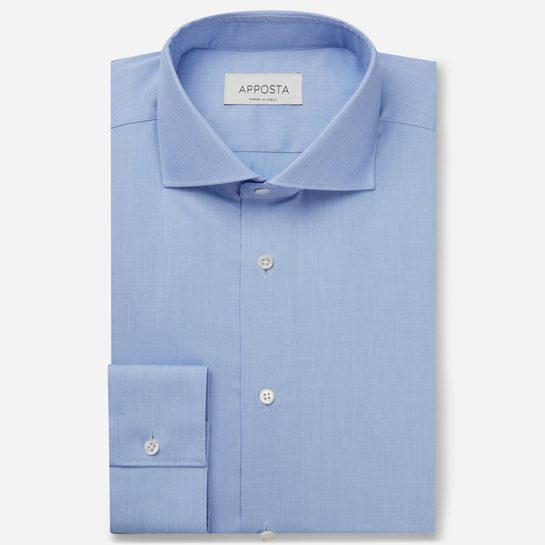 shirt 100% non-iron cotton fil-à-fil  solid  light blue, collar style  lower spread collar
