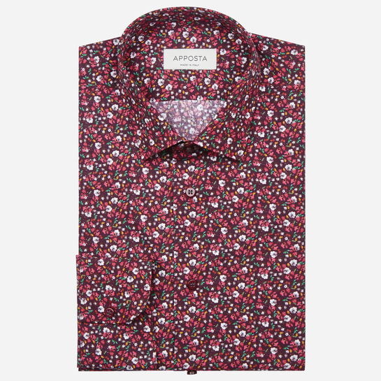 shirt 100% pure cotton poplin  flowers designs  multi, collar style  updated straight point collar
