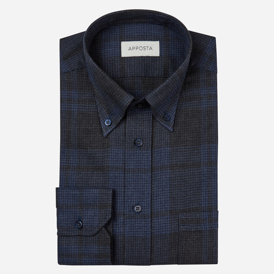 shirt flannel twill  designs  multi, collar style  button-down collar