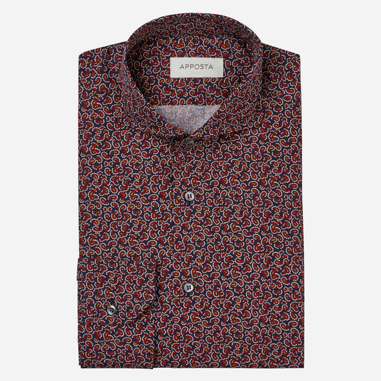 shirt 100% pure cotton poplin  patterned designs  multi, collar style  cutaway collar