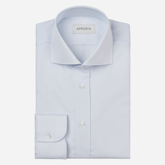 shirt 100% cotton stain repellent twill double twisted oekotex  solid  cyan, collar style  spread collar