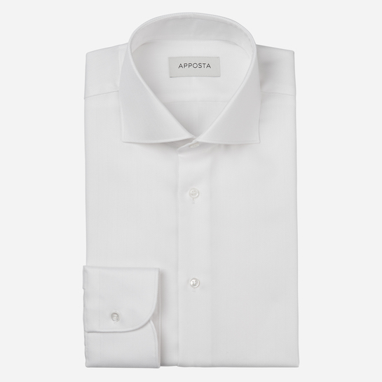 shirt 100% cotton stain repellent chevron double twisted oekotex  solid  white, collar style  spread collar