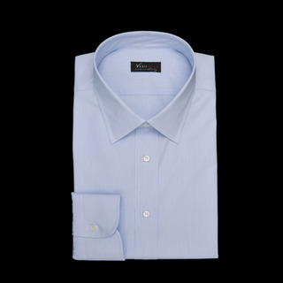 shirt 100% cotton wrinkle free plain  hairline stripe  light blue, collar style  low straight point collar, cuff  round