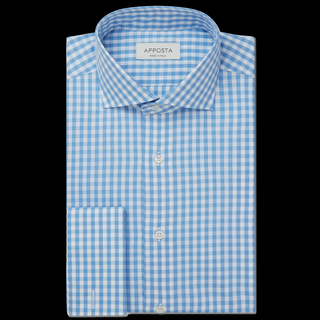 Ensure your shirt is as crisp as your business plan with this gingham cotton shirt, which is cut from our dependable wrinkle-free fabric. The pattern brings a touch of levity while the pronounced cutaway collar and formal French cuffs keep it in check with your formal wardrobe. Wear with sharp tailoring and polished leather lace-ups.