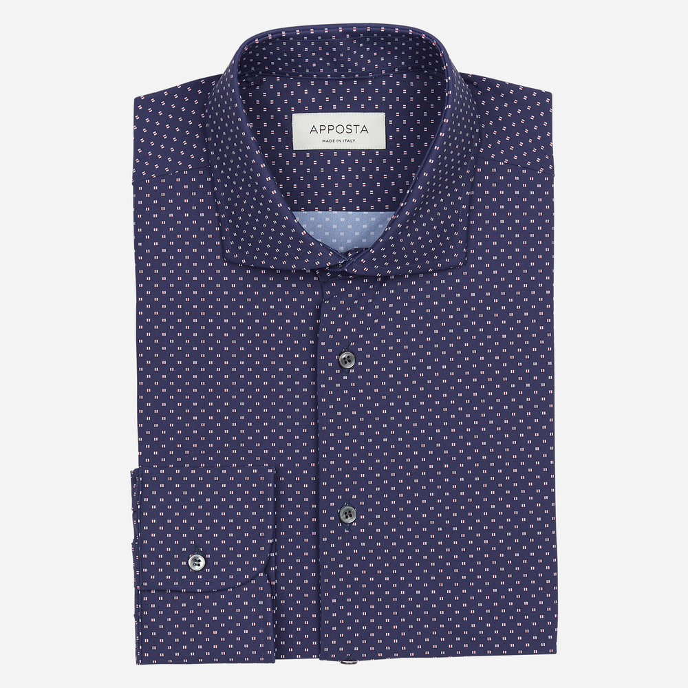 Shirt  designs  blue lycra poplin double twisted sensitive, collar style  updated spread with short points