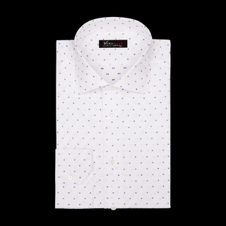 shirt 100% pure cotton plain double twisted  designs  blue, collar style  semi-spread collar, cuff  angled