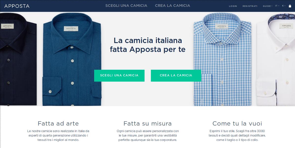 design innovativo 8c209 4dbd1 Camicie su misura online uomo personalizzabili - Apposta